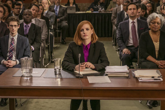 MISS SLOANE: Chastain Shines Again In This Tense Political Thriller